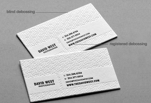 Nox creative business cards that pack a punch nox creative in debossing the image is pressed into the paper creating depressions rather than raised impressions such as embossing debossing can also be used reheart Choice Image