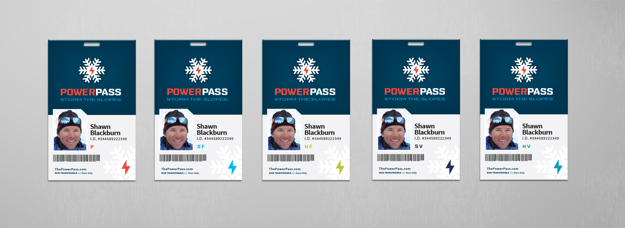 Powerpass lift ticket designs