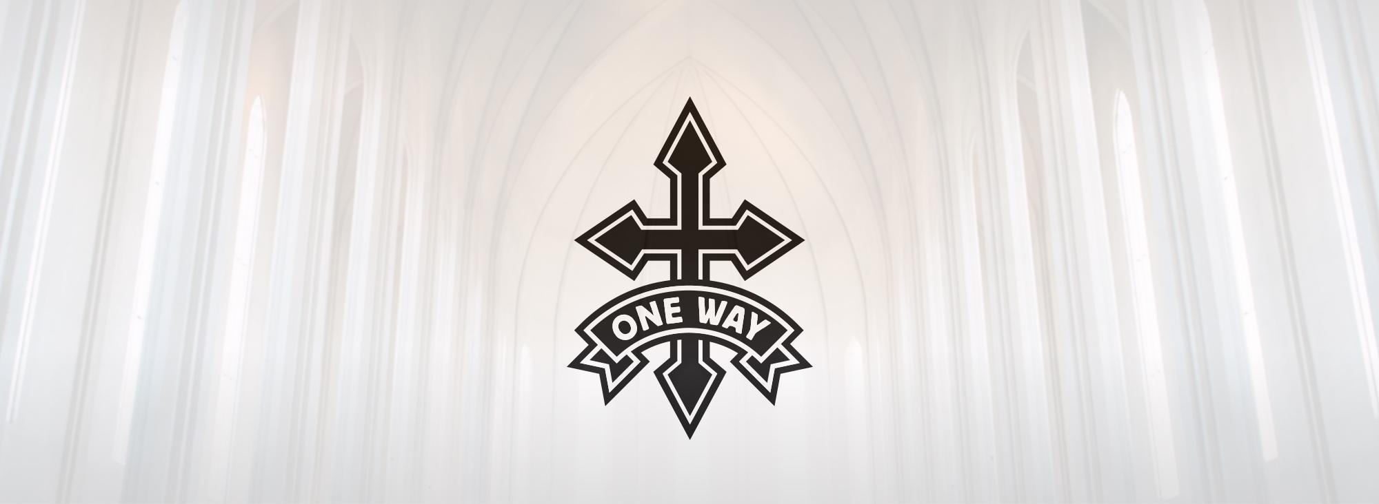 Onewaylogo background